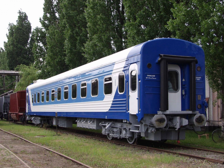 Passenger compartment coach with sitting places and baggage compartment mod.61-779G