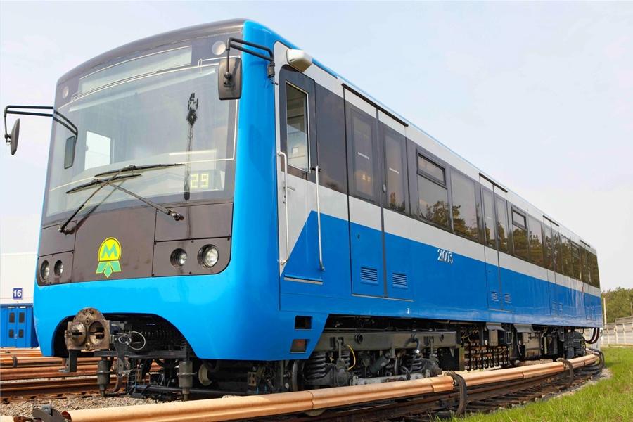 Головной вагон мод. 81-7021 электропоезда метро с тяговым приводом постоянного тока
