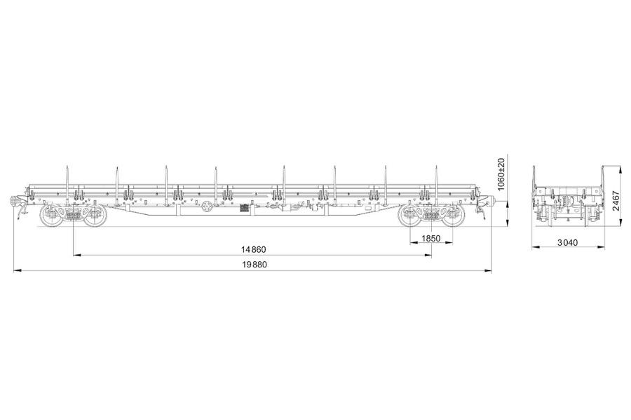 Вагон-платформа модель 13-785