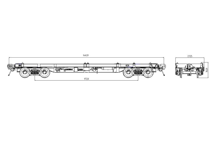 Вагон-платформа модель 13-7133 и 13-7133-01