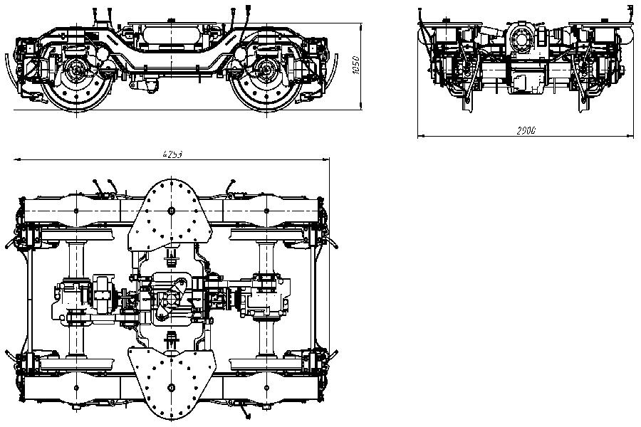 Двухосная тележка приводная модель 68-7085-01