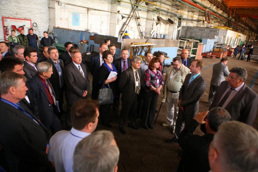 Международное совещание по вопросам эскалаторостроения на Крюковском вагоностроительном заводе