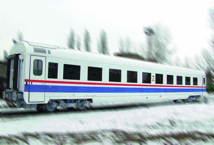 Passenger sleeping coach mod.61-7034 under RIC clearance