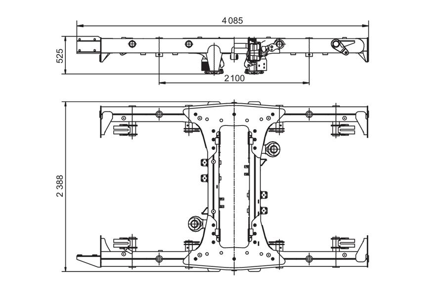Поводковая рама тележки метро модель 81-714/717