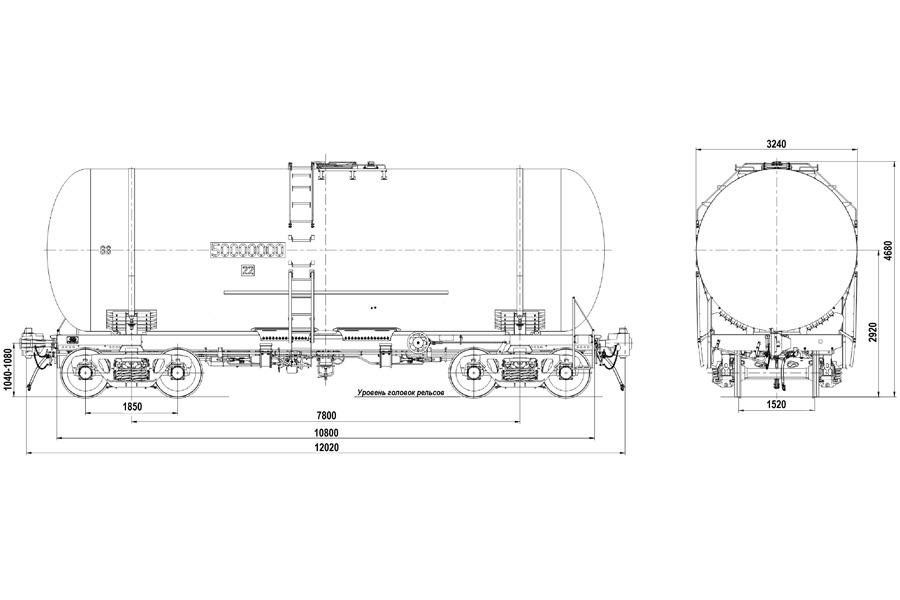 Вагон-цистерна модель 15-7076