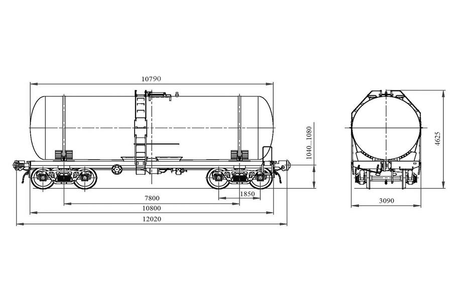 Вагон-цистерна модель 15-776-01