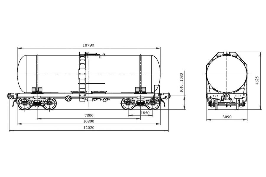 Вагон-цистерна модель 15-776