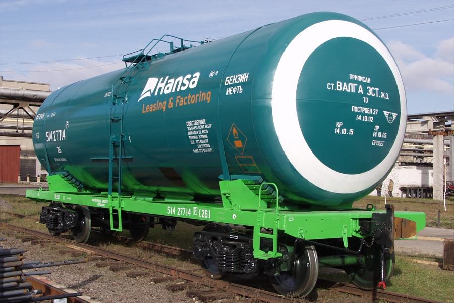 Вагон-цистерна призначена для перевезення світлих нафтопродуктів, модель 15-776, 15-776-01
