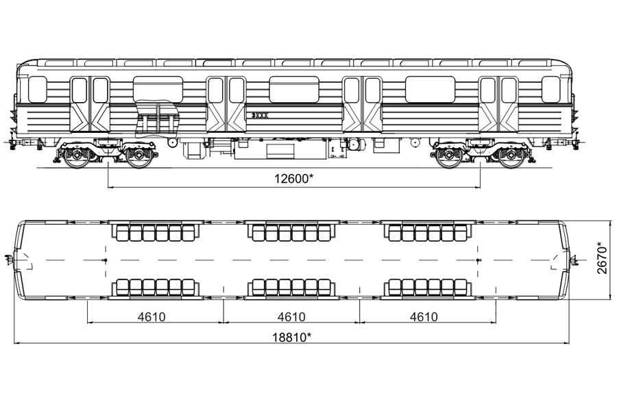 Промежуточный вагон метро мод. 81-7081