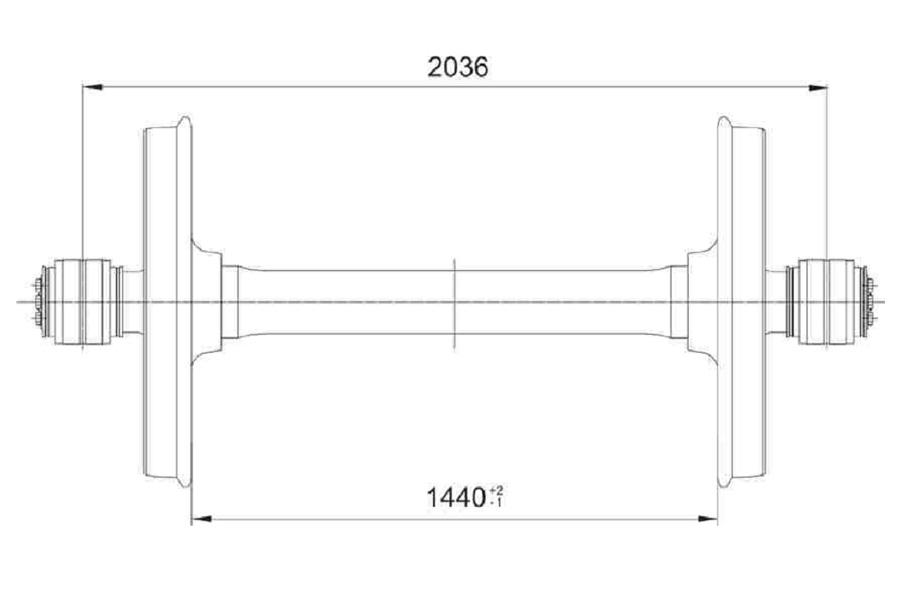 Колесная пара 957-Г-230,5-Б-ГОСТ 4835 (РУ1Ш) (чертеж 7020.10.000-1 СБ)