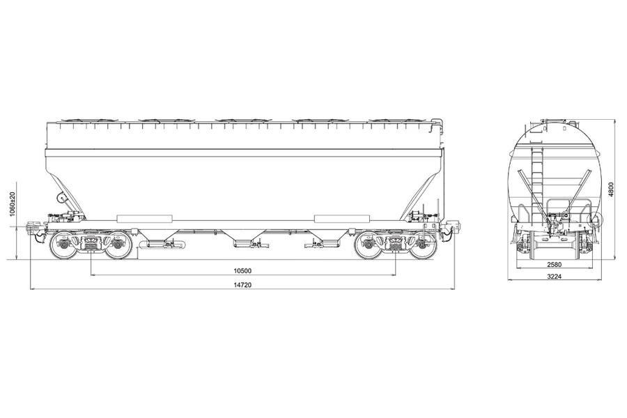 Застосовується візок двовісний модель 18-7033 тип 3 з мод. 19-7053 та мод. 19-7053-04