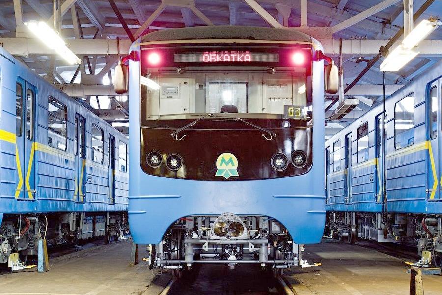 Головной вагон метро мод. 81-7080