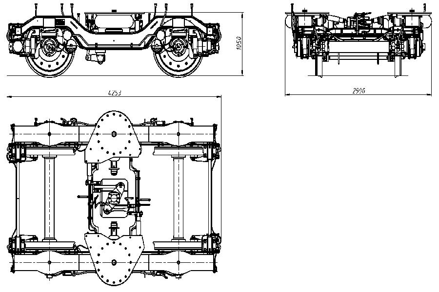 Двухосная тележка модель 68-7090-02/03