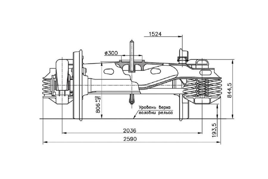Візок двовісний модель 18-7055 тип 2