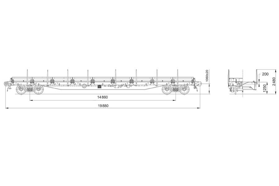 Вагон-платформа модель 13-785-01