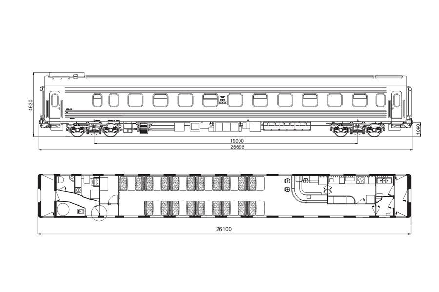 Вагон - ресторан модель 61-779Е1