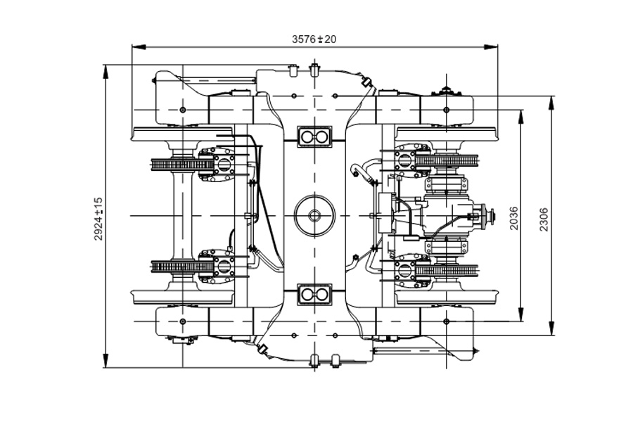 Двовісний візок моделі 68-7115-01 с приводом генератора
