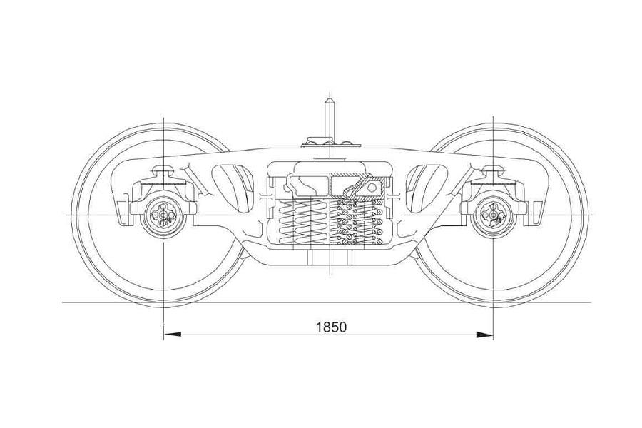 Візок двовісний модель 18-7020 тип 2