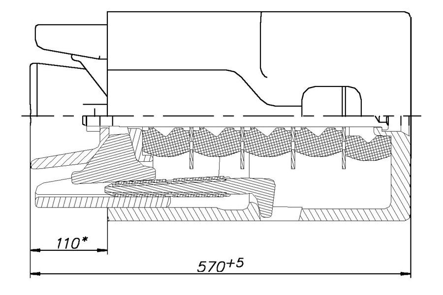 Аппарат поглощающий ПМКП-110