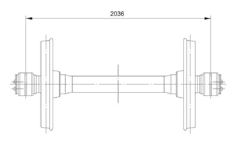 Колесная пара РВ 2Ш-957-Г (чертеж 7033.10.000 СБ)