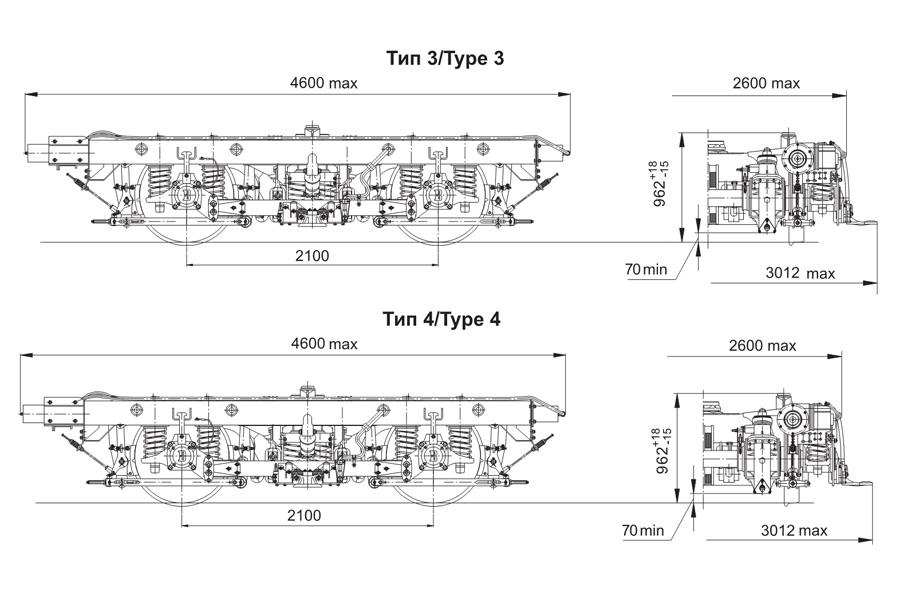 Візок вагону метро мод. 68-797 (тип 3 та тип 4, тип 7)