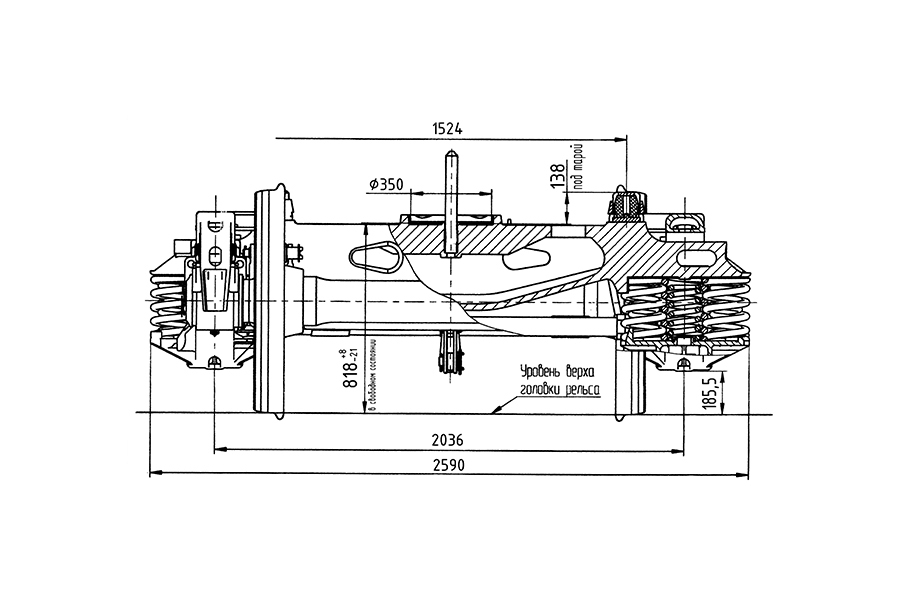 Двухосная тележка модель 18-7033 тип 3