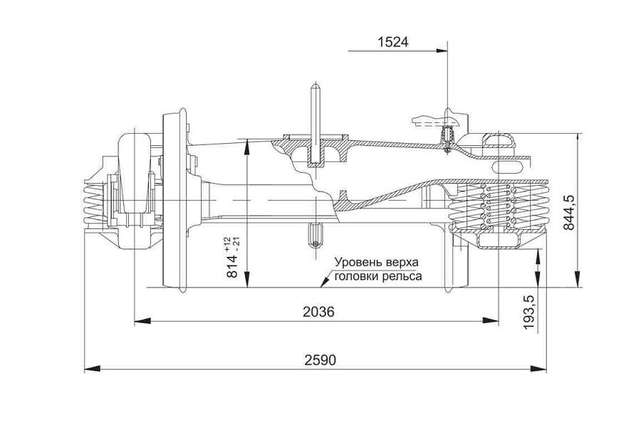Двухосная тележка модель 18-7020 тип 2