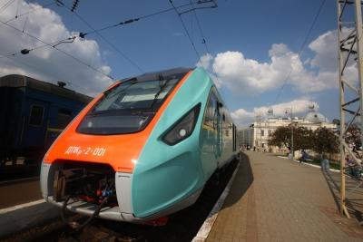 Дизель-поезд (испытания в Карпатах) Львовская ж/д сентябрь 2014г.